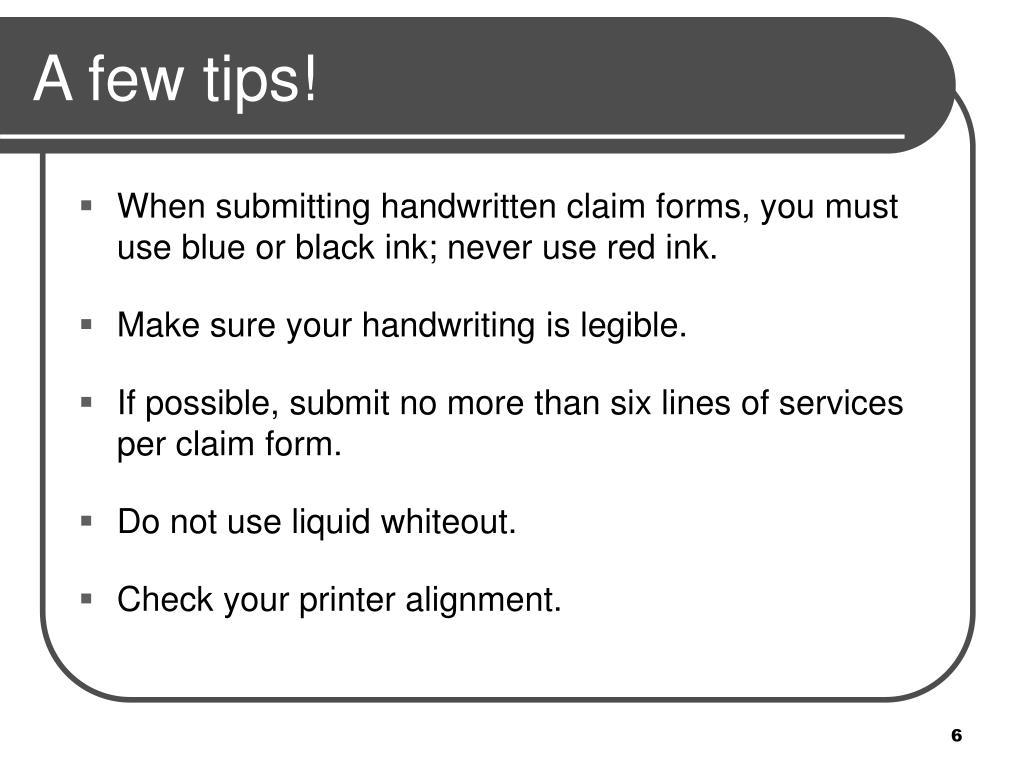 A few tips!
