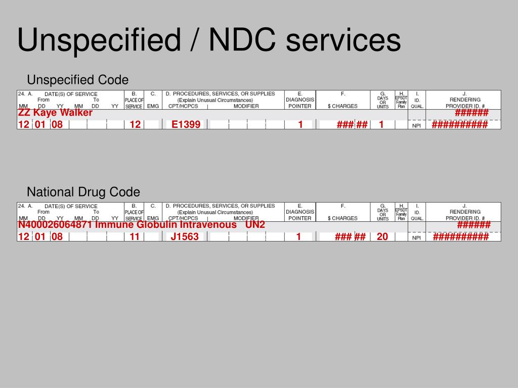 Unspecified / NDC services