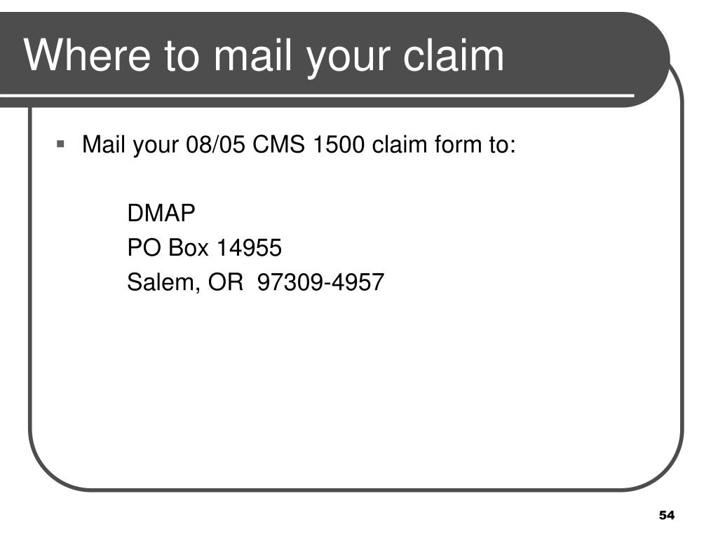Where to mail your claim