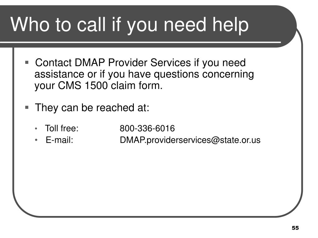 Who to call if you need help