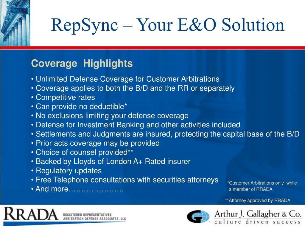 RepSync – Your E&O Solution