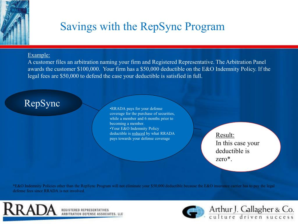 Savings with the RepSync Program
