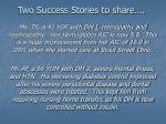 two success stories to share