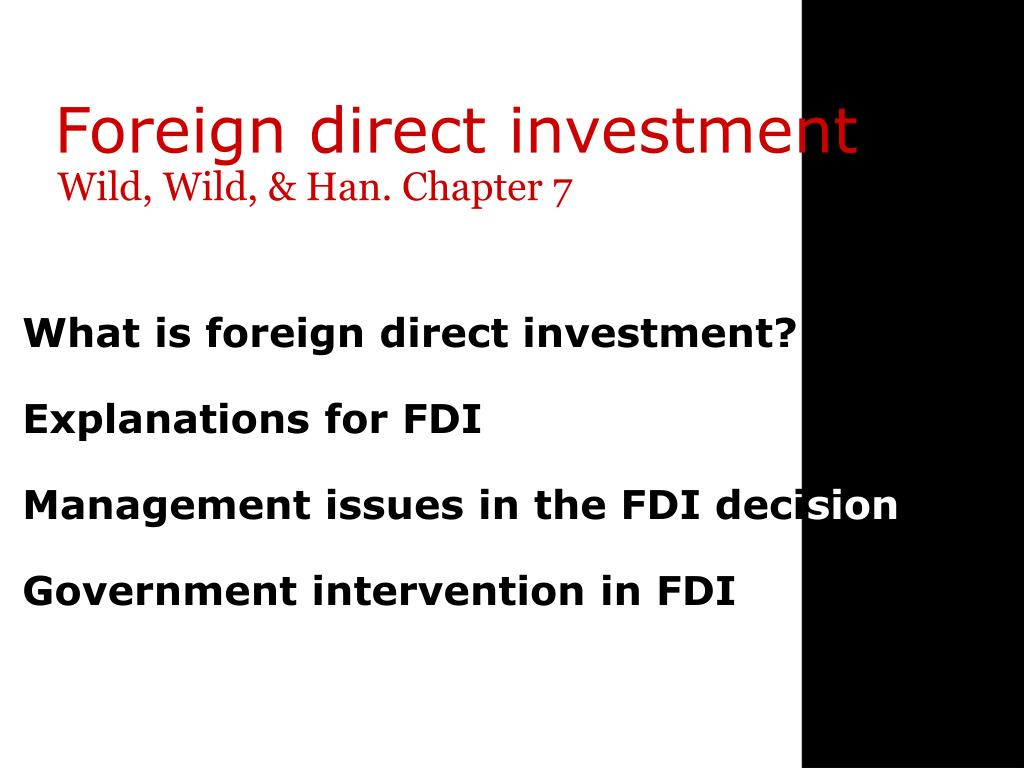 Foreign direct investment ppt download software what is fixed assets investment