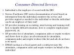 consumer directed services34