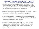 how is a waiver developed