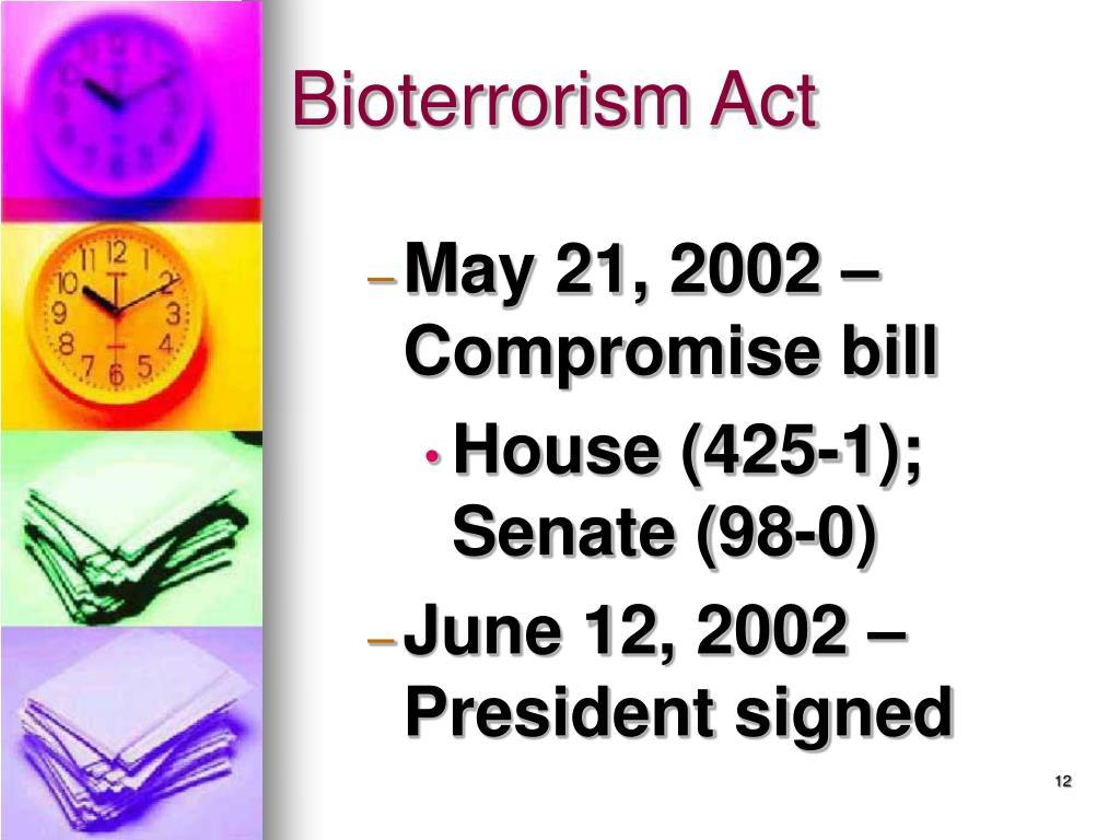 Bioterrorism Act
