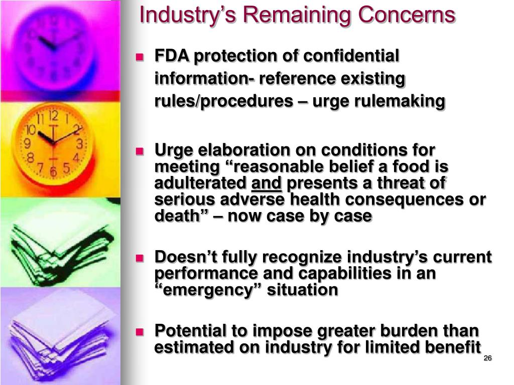 FDA protection of confidential information- reference existing rules/procedures – urge rulemaking