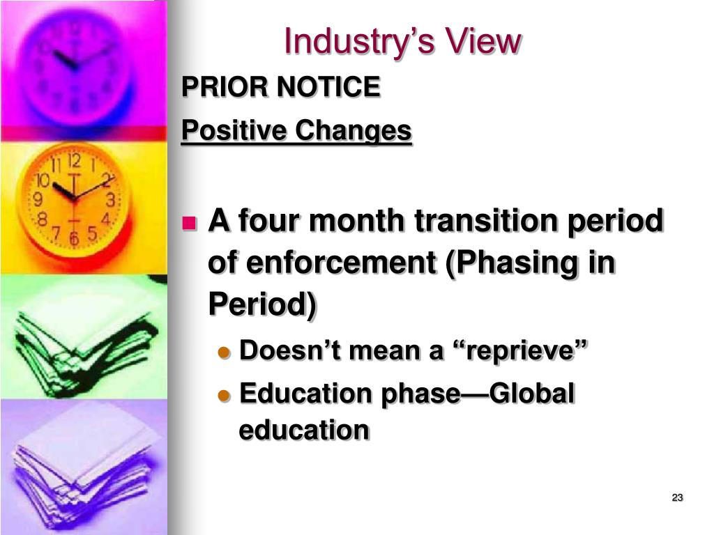 Industry's View