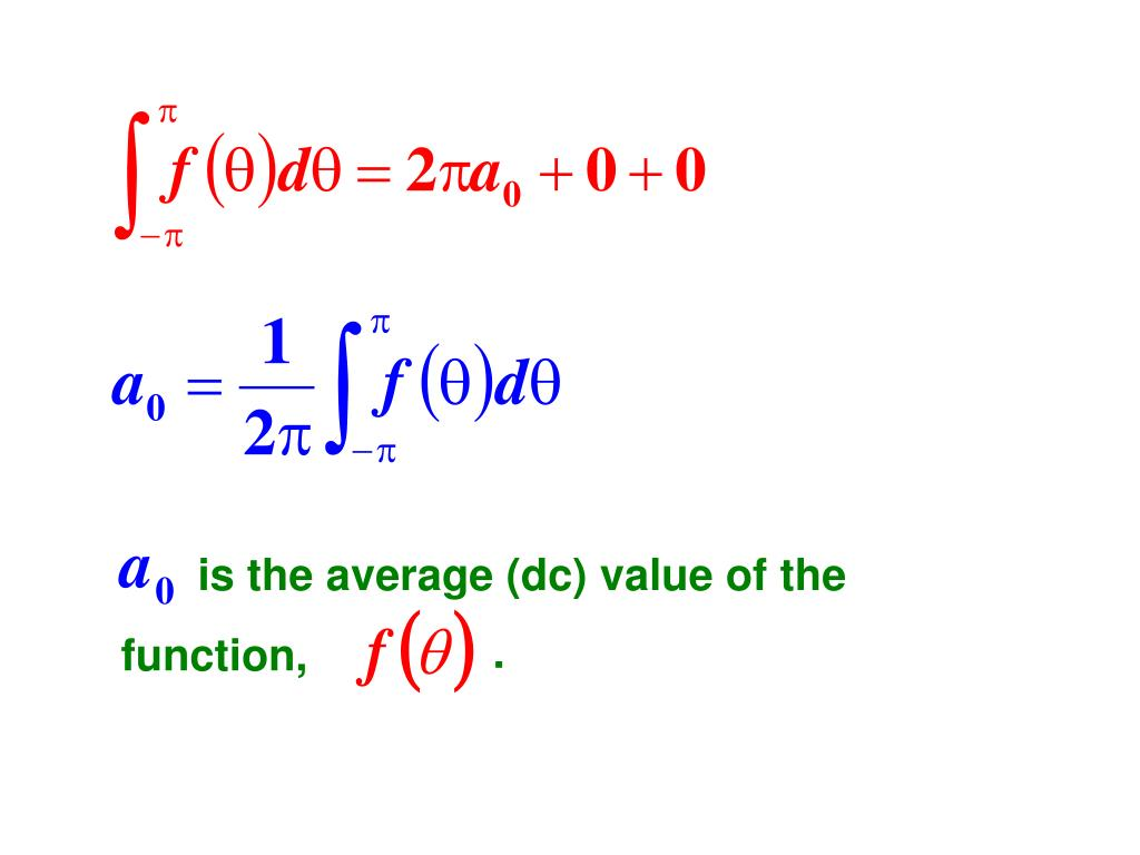 is the average (dc) value of the