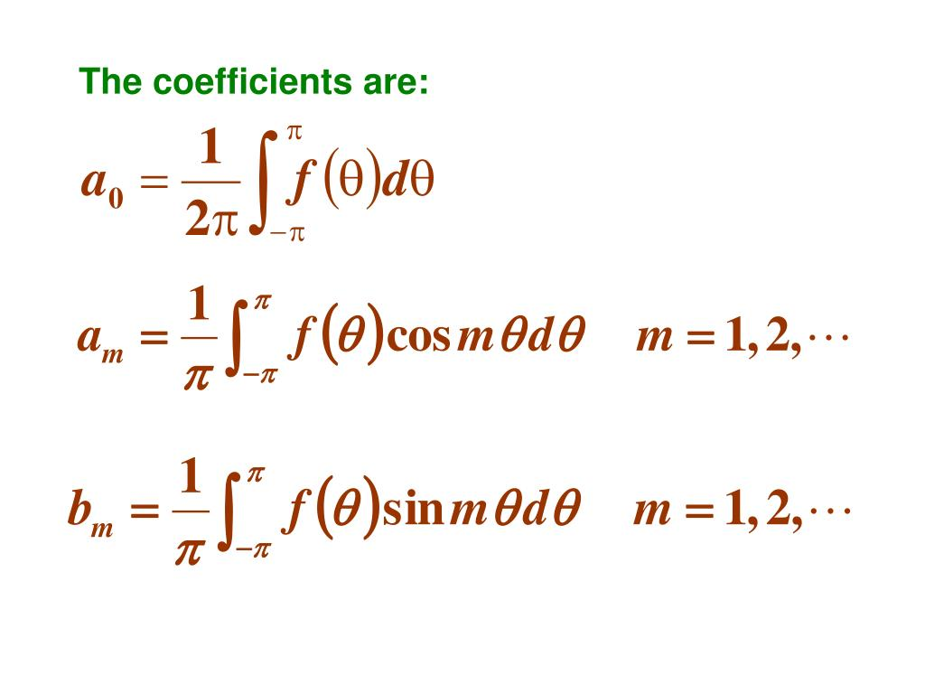 The coefficients are: