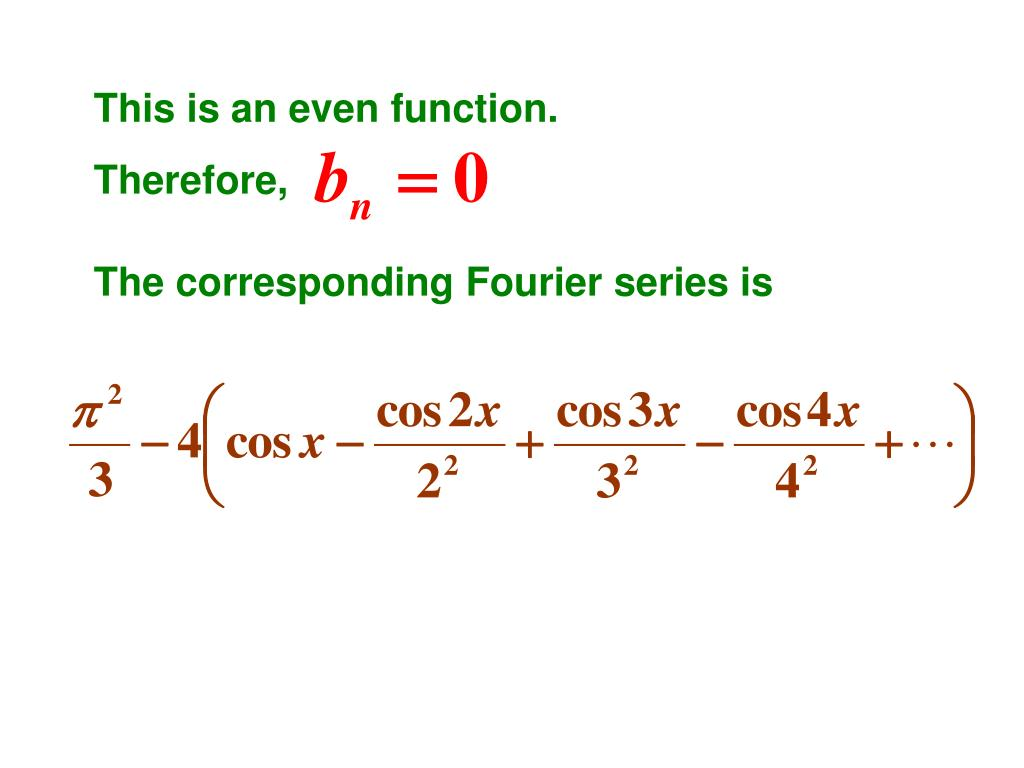 This is an even function.
