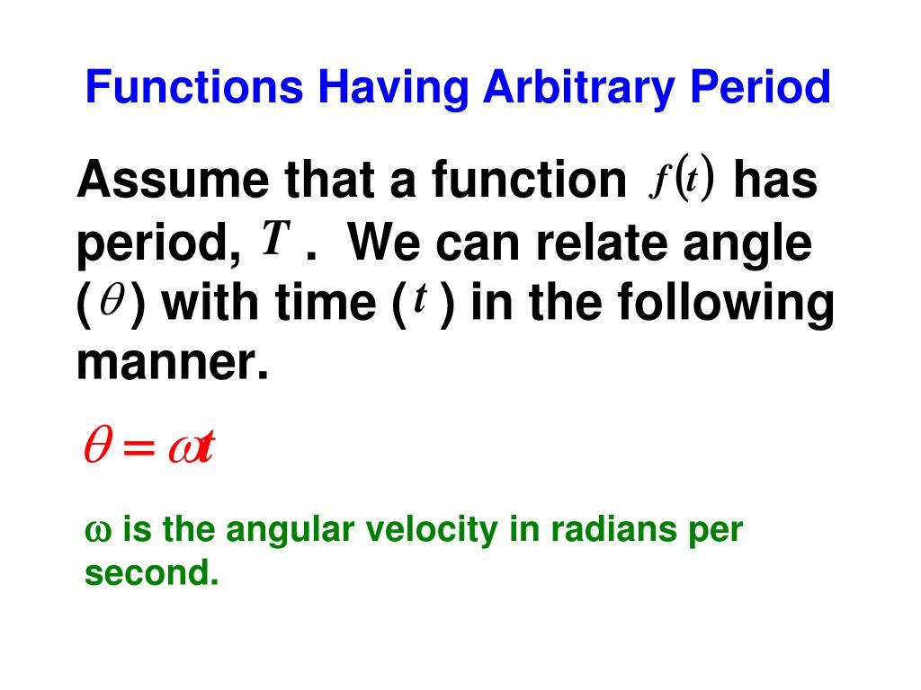 Functions Having Arbitrary Period