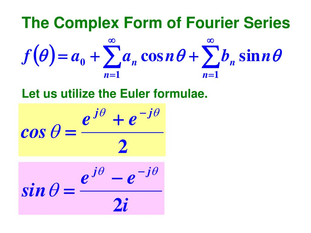 The Complex Form of Fourier Series
