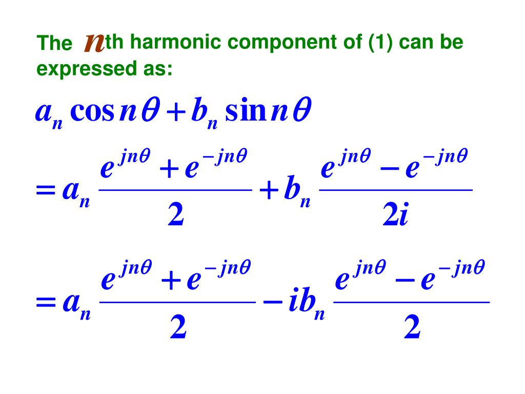 th harmonic component of (1) can be
