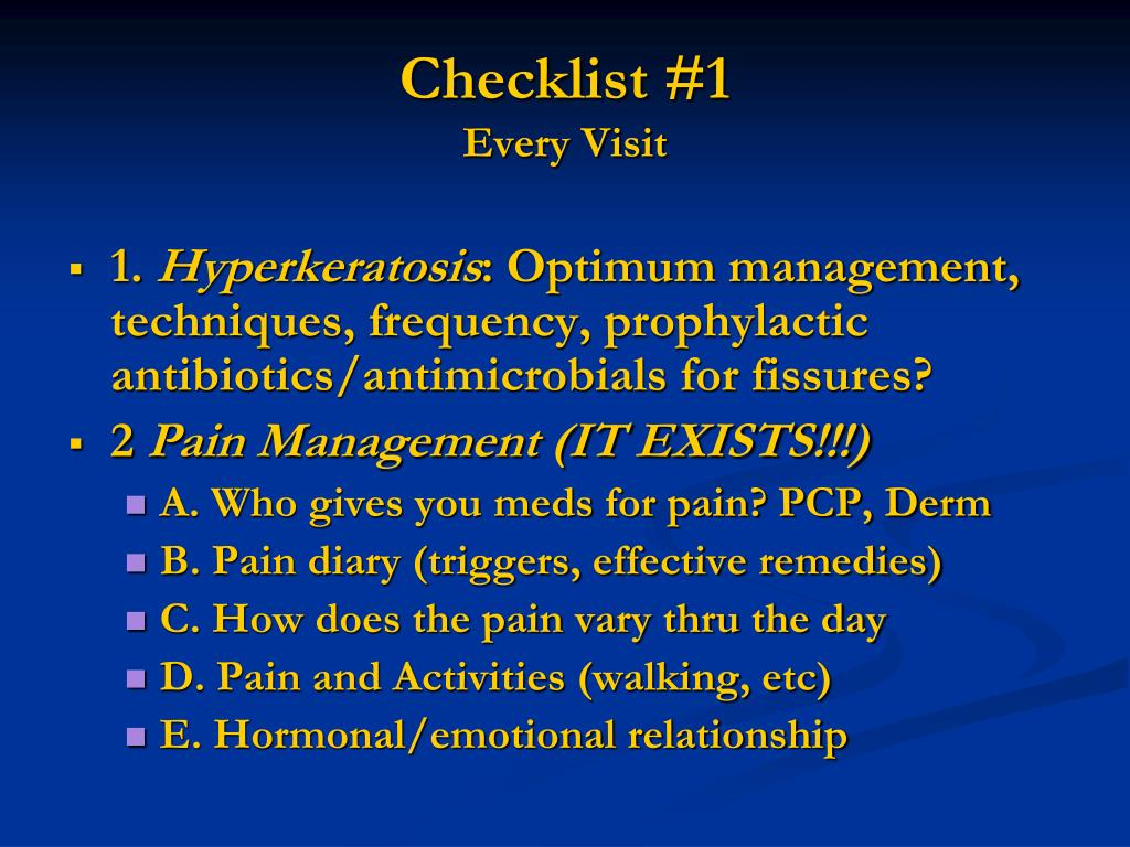 Checklist #1