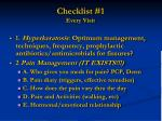 checklist 1 every visit