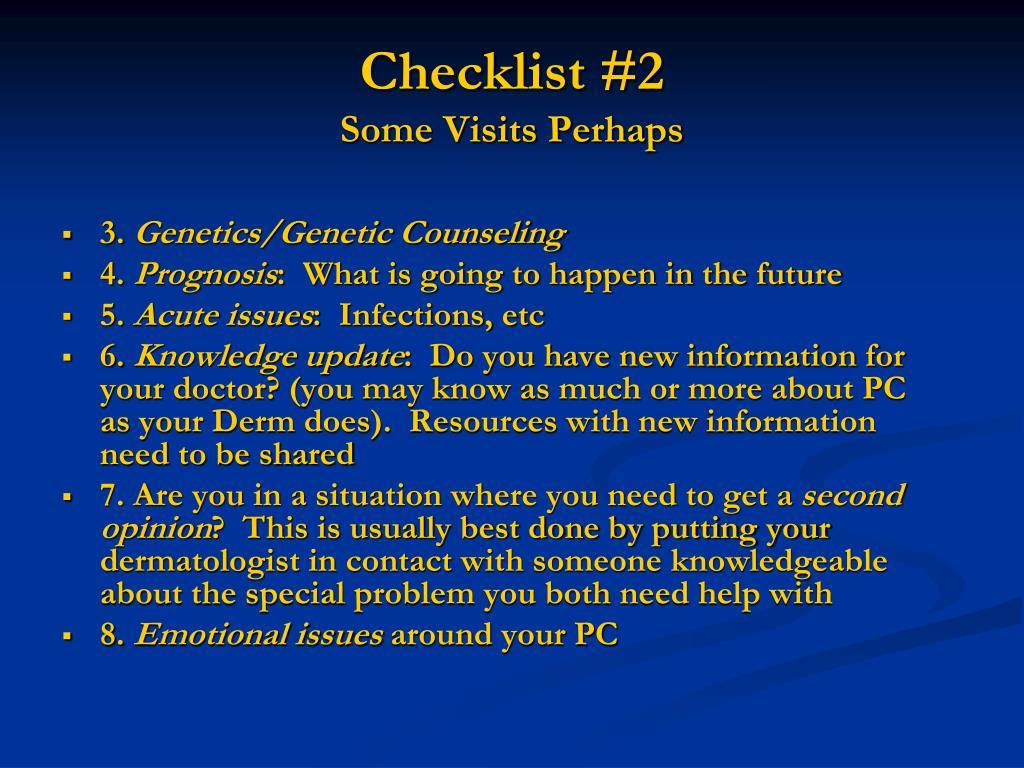 Checklist #2