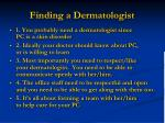 finding a dermatologist