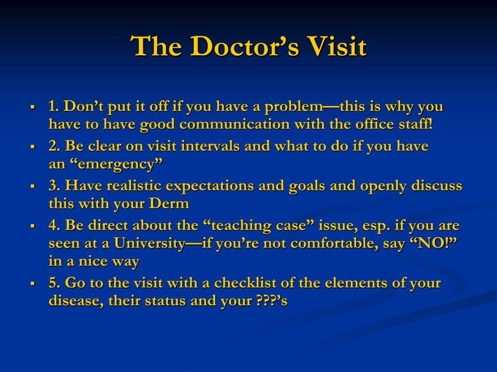 The Doctor's Visit