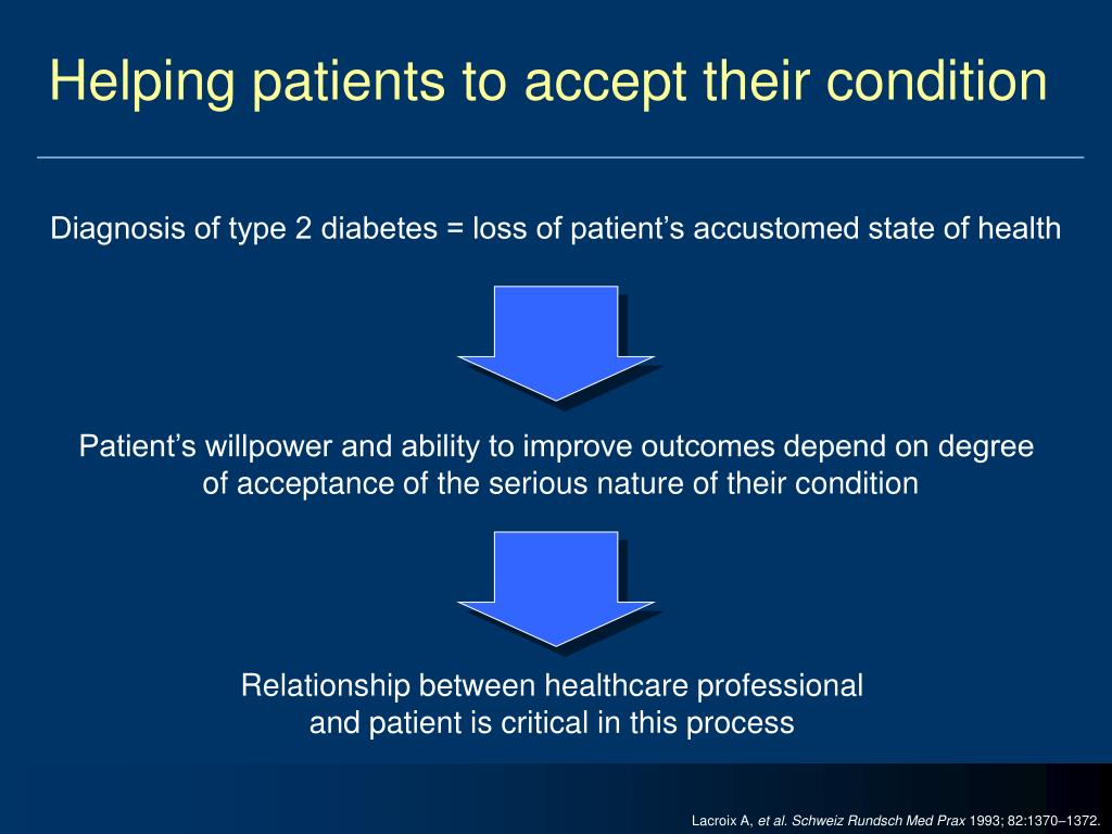Helping patients to accept their condition