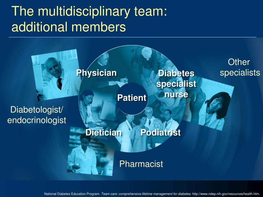 The multidisciplinary team:
