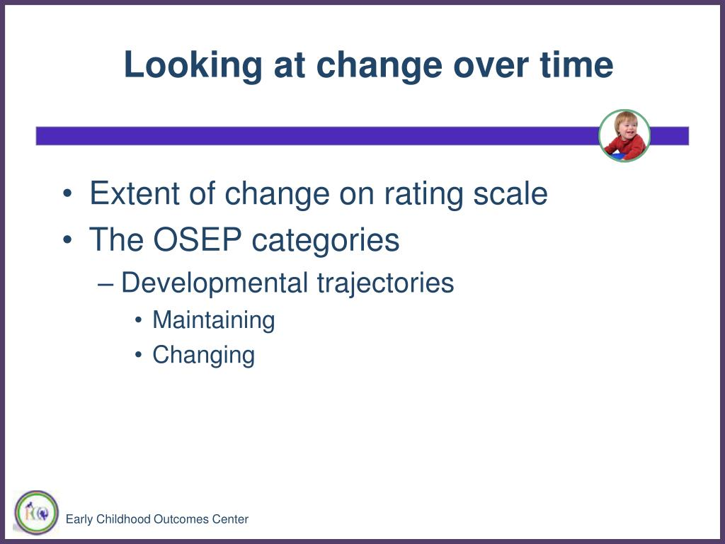 Looking at change over time