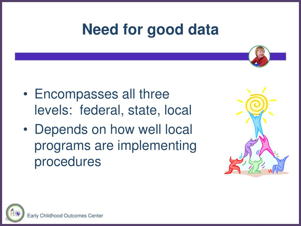 Need for good data