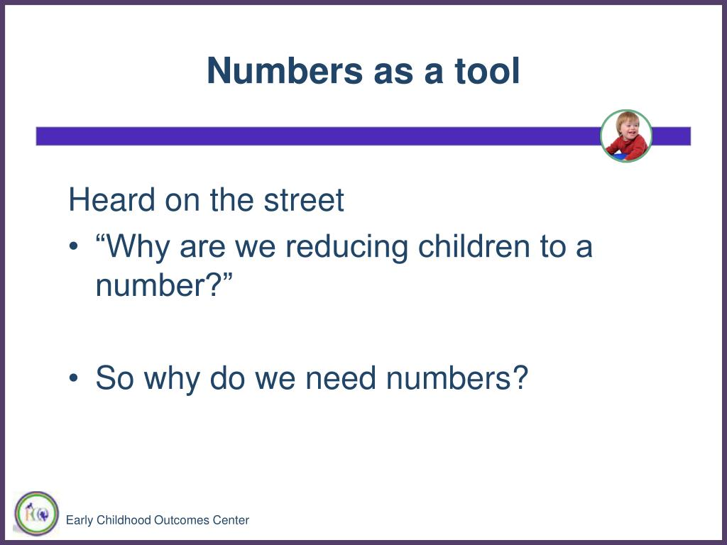 Numbers as a tool
