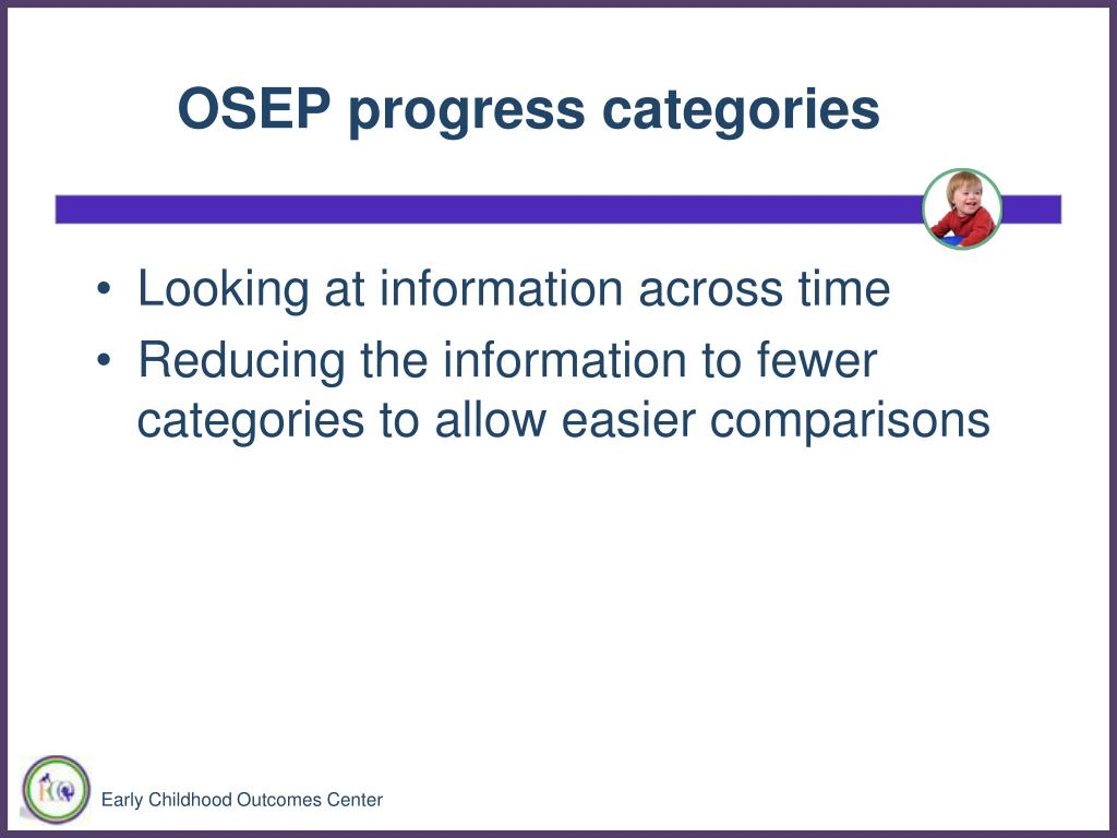 OSEP progress categories