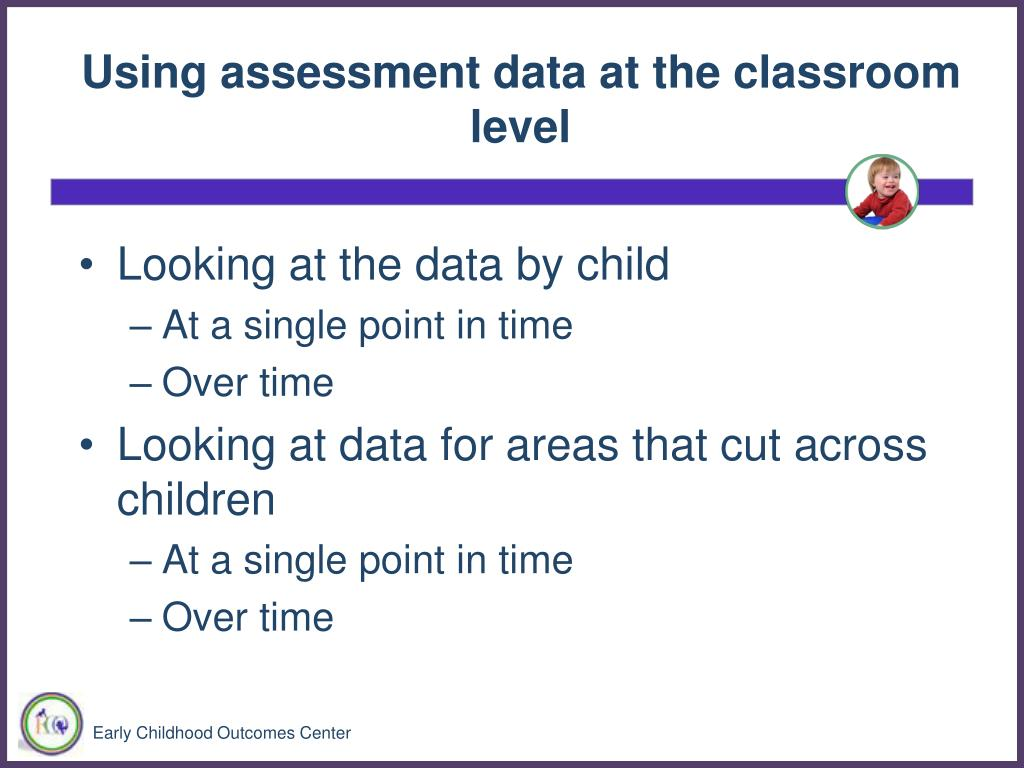 Using assessment data at the classroom level