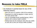 reasons to take fmla
