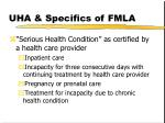 uha specifics of fmla9