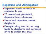 dopamine and anticipation