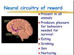 neural circuitry of reward