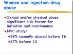 women and injection drug abuse