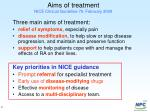 aims of treatment nice clinical guideline 79 february 2009