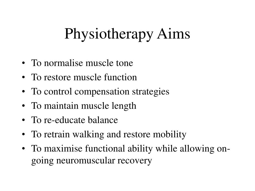 Physiotherapy Aims