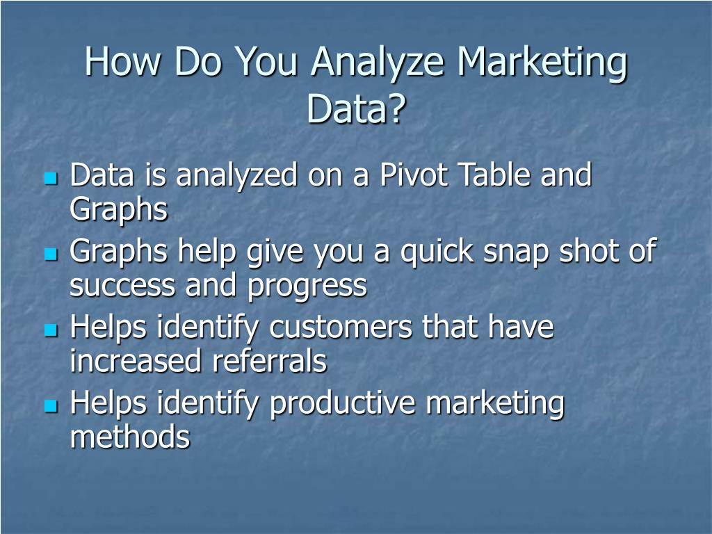 How Do You Analyze Marketing Data?
