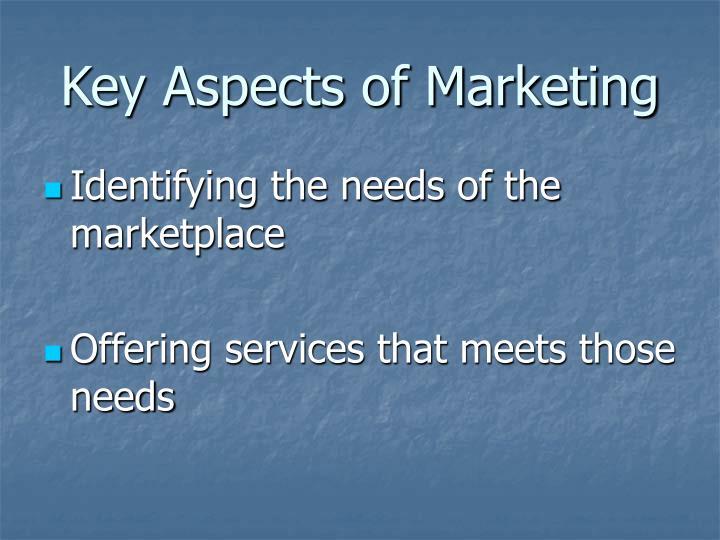 Key aspects of marketing3