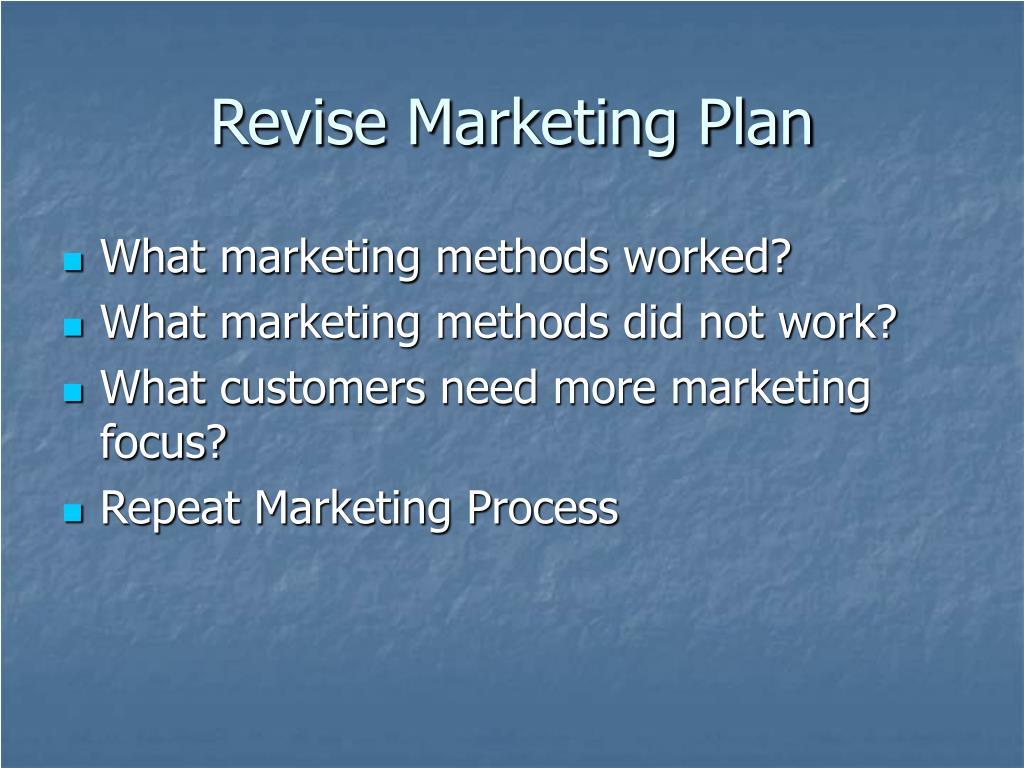 Revise Marketing Plan