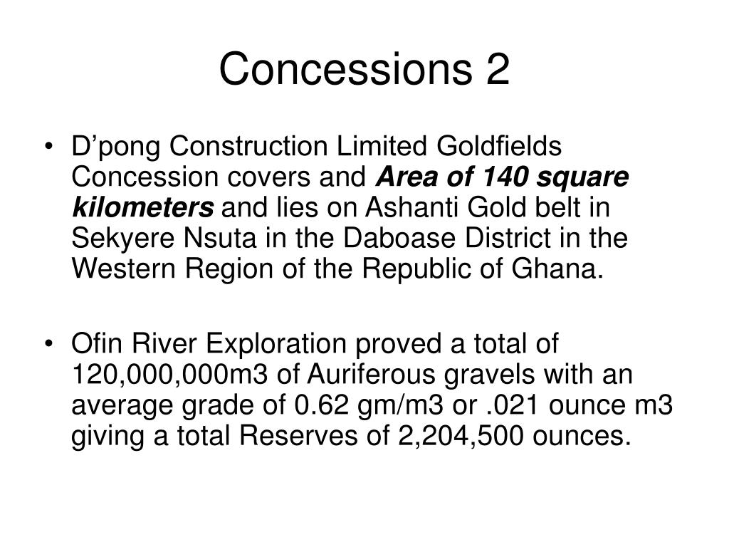 Concessions 2