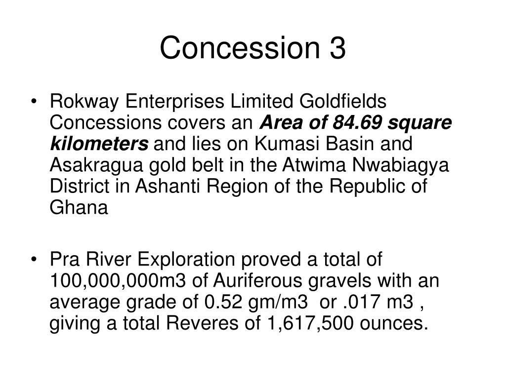 Concession 3