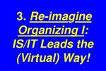 3 re ima g ine organizing i is it leads the virtual way