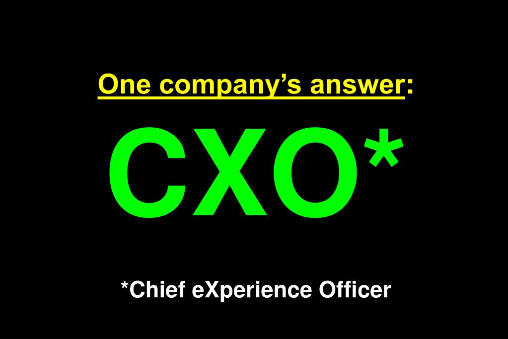 One company's answer