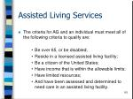 assisted living services115