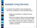 assisted living services116