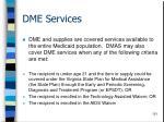 dme services121