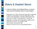 elderly disabled waiver