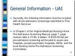 general information uai56